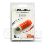 Накопитель 8GB USB OltraMax 230 Orange